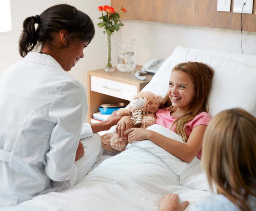 Doctor Treating Child Who Received Free Rapid COVID-19 Testing in Las Vegas, NV